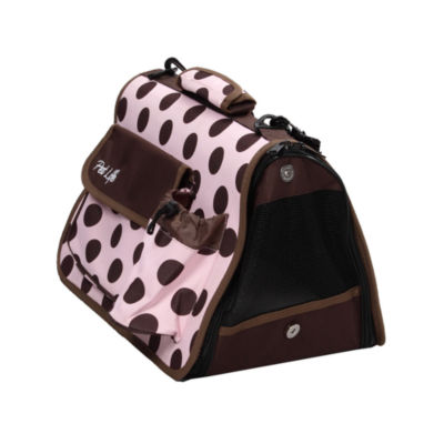 The Pet Life Airline Approved Folding Zippered Casual Pet Carrier