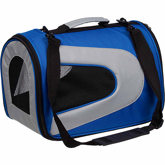 The Pet Life Airline Approved Folding Zippered Sporty Mesh Pet Carrier