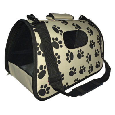 The Pet Life Airline Approved Folding Zippered Sporty Cage Pet Carrier
