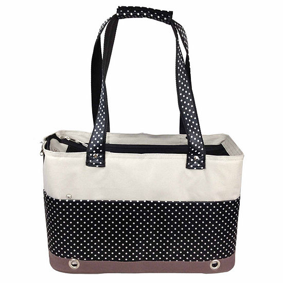 The Pet Life Fashion Tote Spotted Pet Carrier