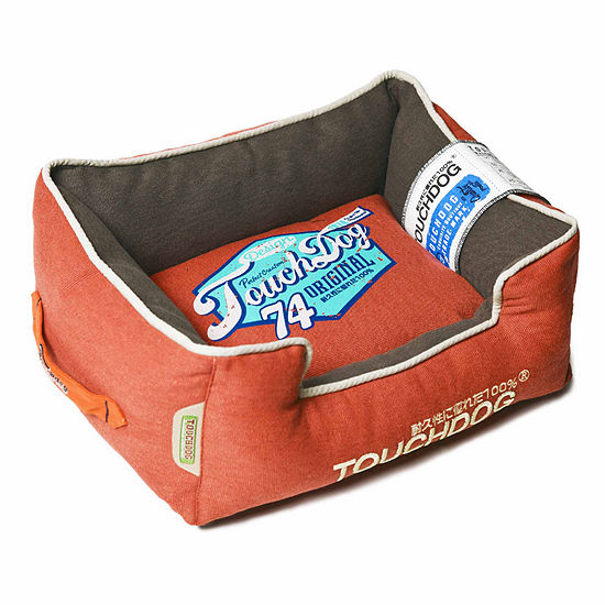 The Pet Life Touchdog Original Sporty Vintage Throwback Reversible Plush Rectangular Pet Bed
