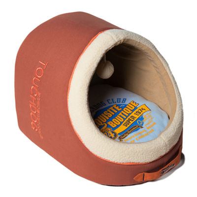 The Pet Life Touchdog Indoor Active-Play Exquisite Panoramic Designer Vintage Emblem Dog Bed
