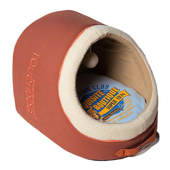 The Pet Life Touchdog Indoor Active-Play Exquisite Panoramic Designer Vintage Emblem Dog Bed