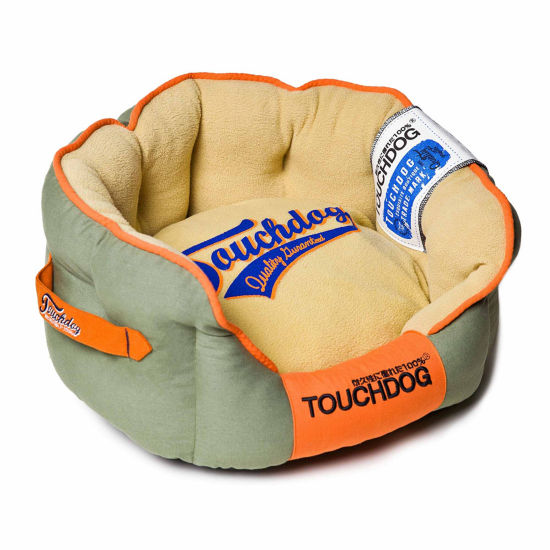 The Pet Life Touchdog Original Castle-Bark Ultimate Rounded Premium Dog Bed