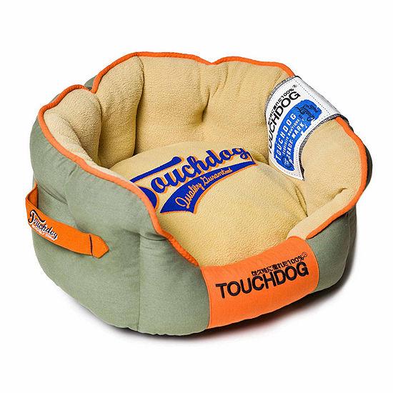The Pet Life Touchdog Original Castle-Bark Ultimate Rounded Premium Dog Bed