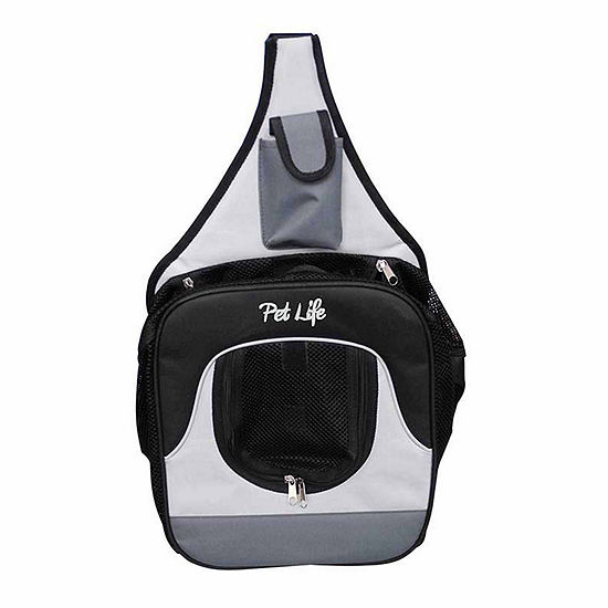 The Pet Life Single Strap Over-The-Shoulder Navigation Hands Free Backpack and Front pack Pet Carrier