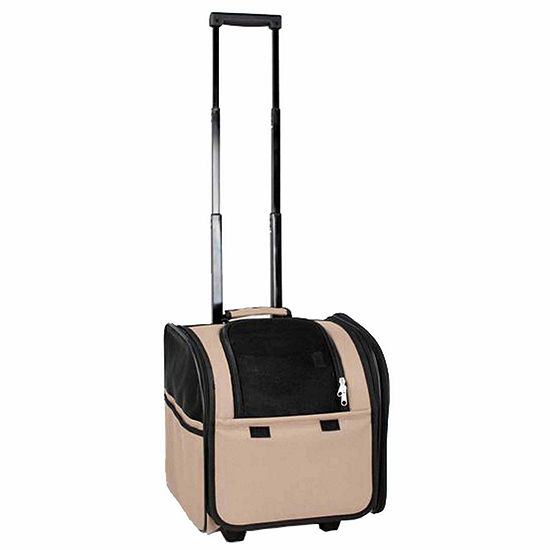 The Pet Life Wheeled Travel Pet Carrier