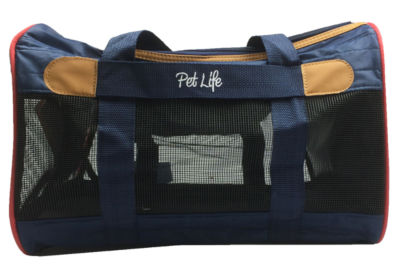 The Pet Life Airline Approved Aero-Zoom Lightweight Wire Framed Collapsible Pet Carrier