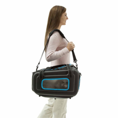 The Pet Life The Airline Approved Collapsible Lightweight Ergo Stow-Away Contoured Pet Carrier