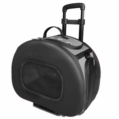 The Pet Life Tough-Shell Wheeled Collapsible Final Destination Pet Carrier