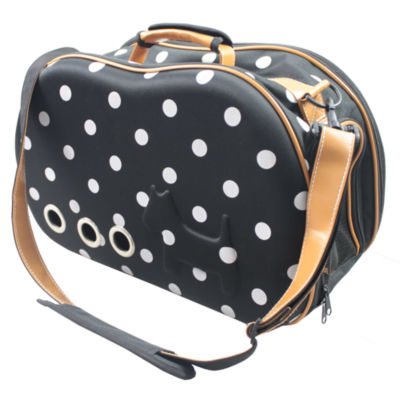 The Pet Life Fashion Dotted Venta-Shell Perforated Collapsible Military Grade Designer Pet Carrier