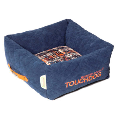 The Pet Life Touchdog Diamond Stitched Active-PlayIndoor Panoramic Designer Dog Bed