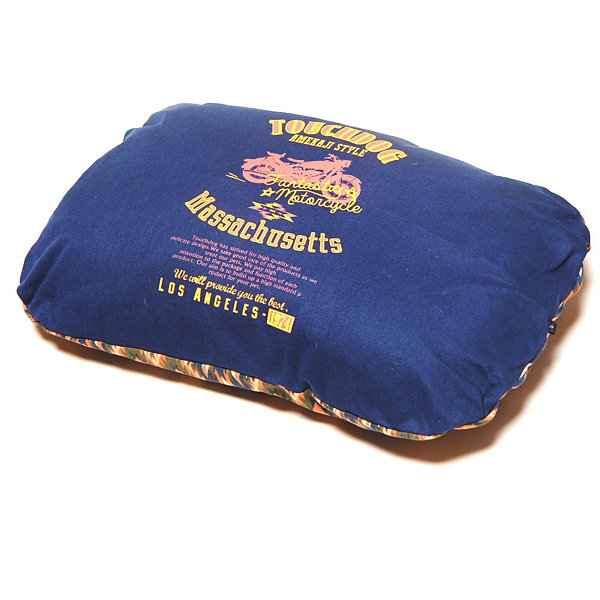 The Pet Life Touchdog 70's Vintage-Tribal Throwback Diamond Patterned Ultra-Plush Rectangular Rounded Dog Bed