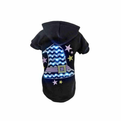 The Pet Life Pet Life LED Lighting Magical Hat Hooded Sweater Pet Costume