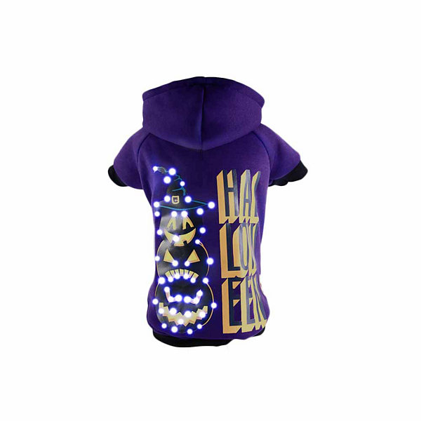 The Pet Life LED Lighting Halloween Happy Snowman Hooded Sweater Pet Costume