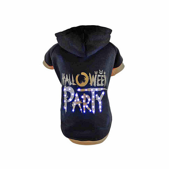 The Pet Life Pet Life LED Lighting Halloween Party Hooded Sweater Pet Costume