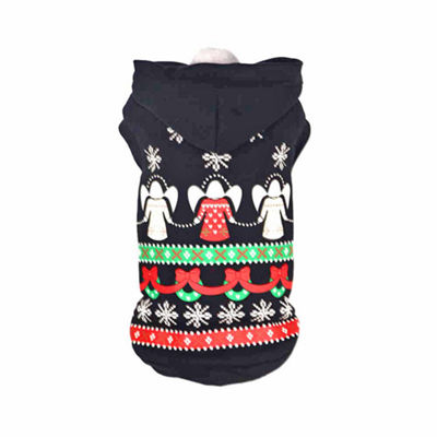 The Pet Life Pet Life LED Lighting Patterned Holiday Hooded Sweater Pet Costume