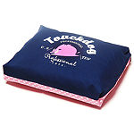 The Pet Life Touchdog Polka-Striped Polo Easy Wash Rectangular Fashion Dog Bed