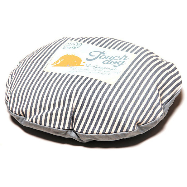 The Pet Life Touchdog Polka-Striped Polo Rounded Fashion Dog Bed