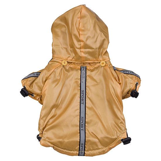 The Pet Life Reflecta-Sport Adjustable Reflective Weather-Proof Pet Rainbreaker Jacket