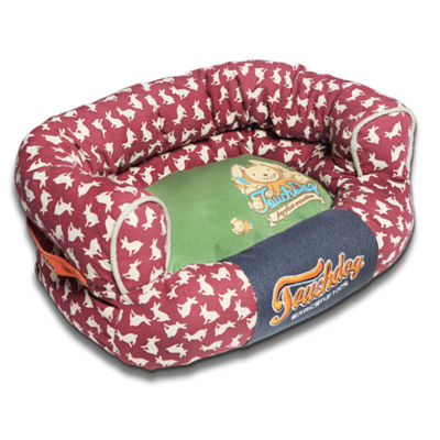 The Pet Life Touchdog Rabbit-Spotted Premium Rounded Dog Bed