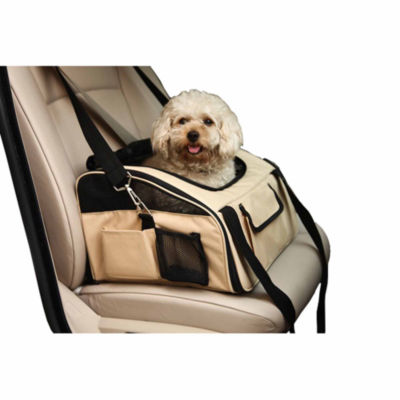 The Pet Life Ultra-Lock' Collapsible Safety Travel Wire Folding Pet Car Seat Carrier