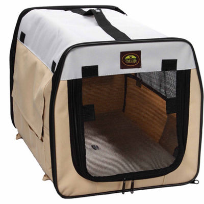 The Pet Life Folding Zippered Lightweight Easy Folding Pet Crate