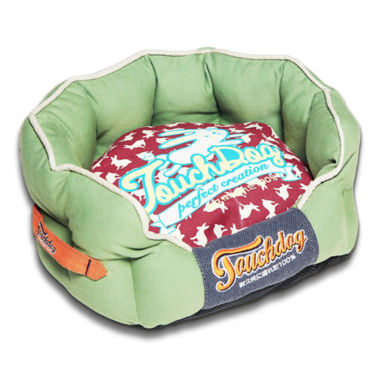 The Pet Life Touchdog Rabbit-Spotted Active-Play Indoor Panoramic Designer Dog Bed