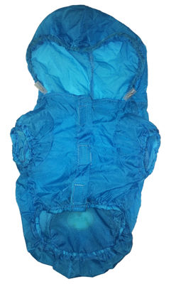 The Pet Life The Ultimate Waterproof Thunder-Paw Adjustable Zippered Folding Travel Dog Raincoat