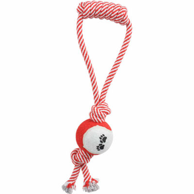 The Pet Life Pull Away' Rope And Tennis Ball