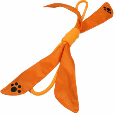 The Pet Life Extreme Bow Squeak Pet Rope Toy