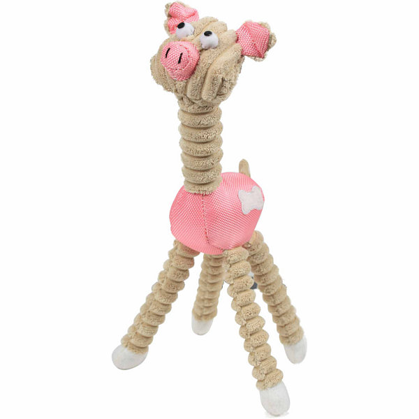 The Pet Life Jute And Rope Giraffe - Pig Pet Toy