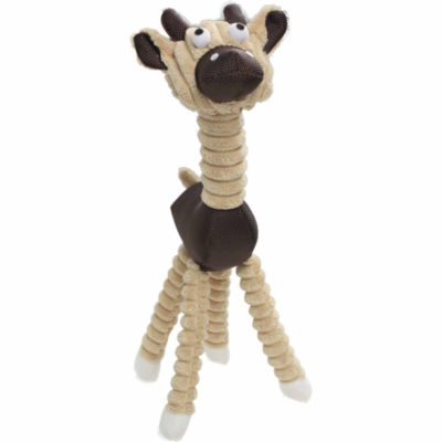 The Pet Life Jute And Rope Giraffe - Cow Pet Toy
