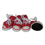 The Pet Life Extreme-Skater Canvas Casual Grip PetSneaker Shoes - Set Of 4