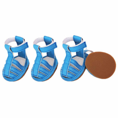 The Pet Life Buckle-Supportive Pvc Waterproof PetSandals Shoes - Set Of 4