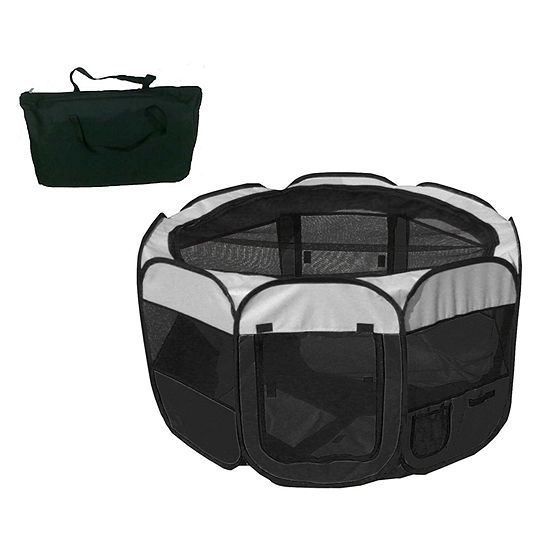 The Pet Life All-Terrain' Lightweight Easy FoldingWire-Framed Collapsible Travel Pet Playpen