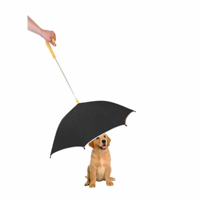 The Pet Life Pour-Protection Umbrella With Reflective Lining And Leash Holder