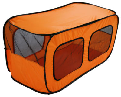 The Pet Life Dual Mesh Window Wired Lightweight Collapsible Outdoor Multi-Pet Tent