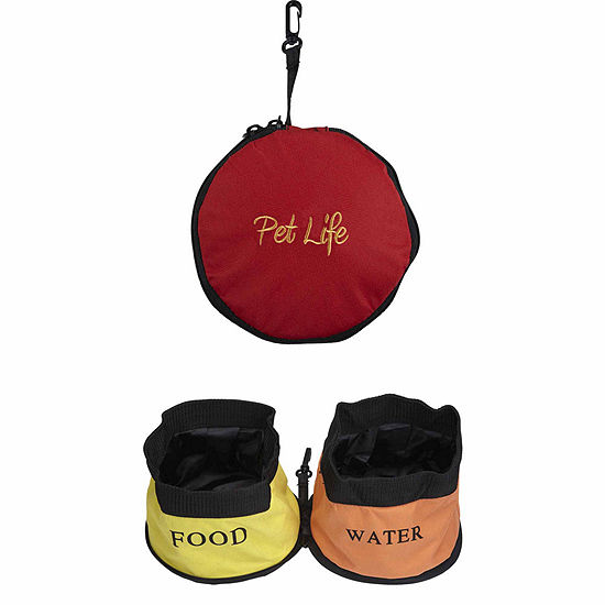 The Pet Life Double Water Travel Pet Bowl