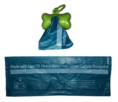 The Pet Life 100% Recyclable Eco-Friendly Pet Waste Bags from Renewable Thermoplastic Starch - Dispenser and 2 Pack of Rolls