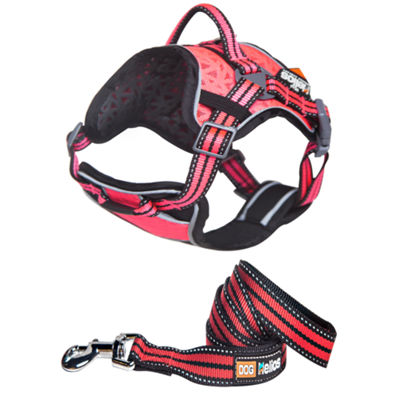 The Pet Life Helios Dog Chest Compression Pet Harness and Leash Combo