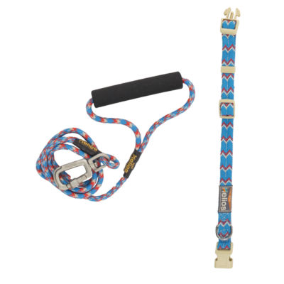 The Pet Life Helios Dura-Tough Easy Tension 3M Reflective Pet Leash and Collar