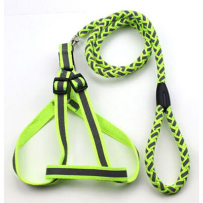 The Pet Life Reflective Stitched Easy Tension Adjustable 2-in-1 Dog Leash and Harness