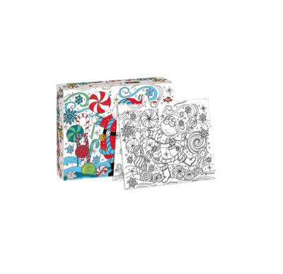 LANG Santa Dance Boxed Christmas Cards - Coloring