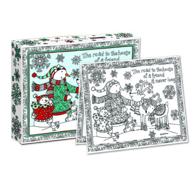 LANG Winter Happiness Boxed Christmas Cards - Coloring