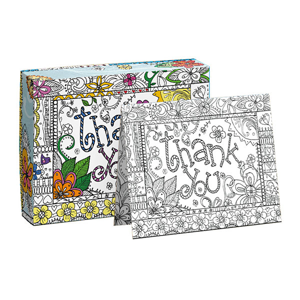 LANG Thankful In Color Boxed Note Cards - Coloring