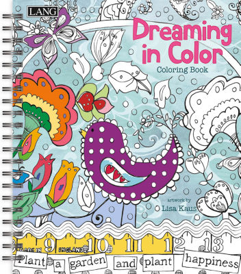 LANG Dreaming In Color Coloring Book (1020102)