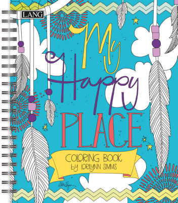 LANG My Happy Place Coloring Book