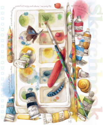 LANG Painterly Spiral Bound Sketchbook (4006030)