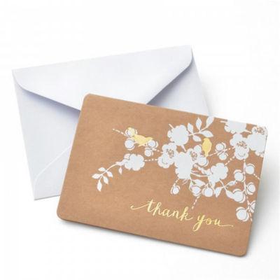 Gartner Studios Foil Bird on Kraft Thank You Card